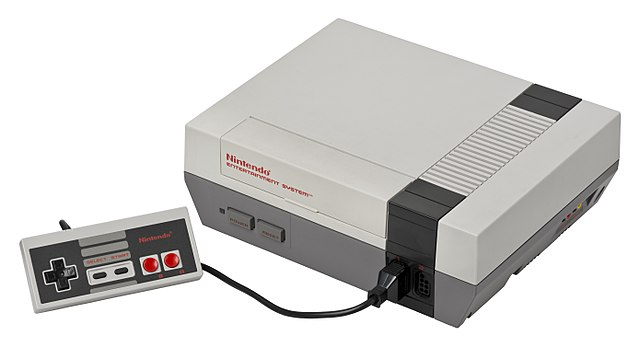 Nintendo Entertainment System console with controller