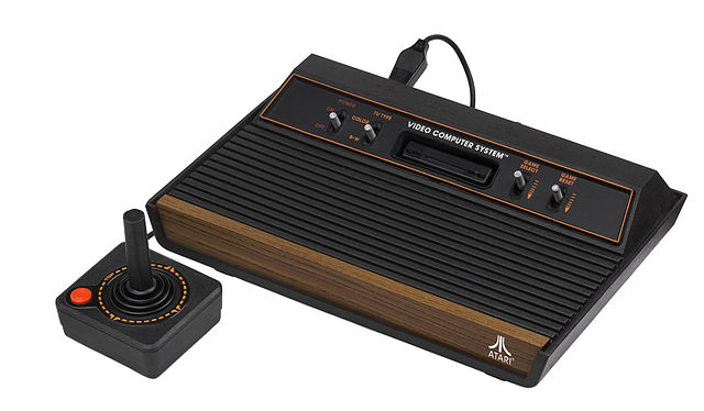 Atari 2600 video-game console with joystick